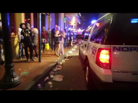 Watch the sweep of Bourbon Street to mark the end of Mardi Gras