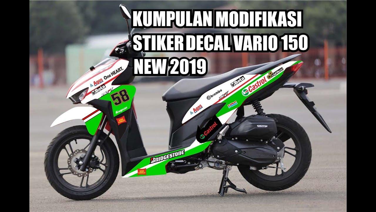 Kumpulan modifikasi stiker decal honda vario 150 new 2019