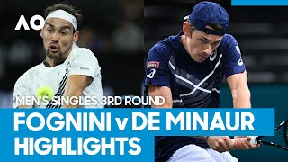 Fabio Fognini vs Alex de Minaur Match Highlights (3R) | Australian Open 2021