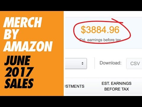 JUNE 2017 MERCH BY AMAZON SALES - NEWS - UPDATES!