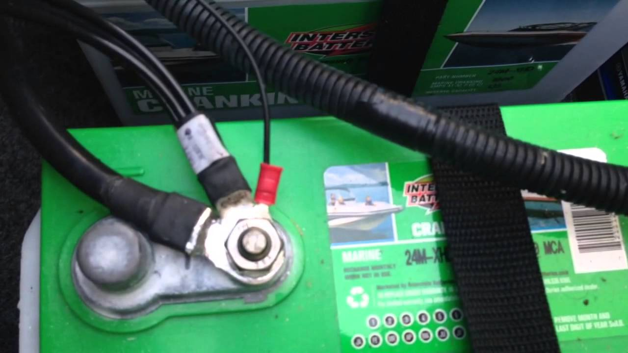 Dual Trolling Motor Battery Wiring Diagram Duel Battery Wiring 2013 Yamaha 242 Limited Youtube