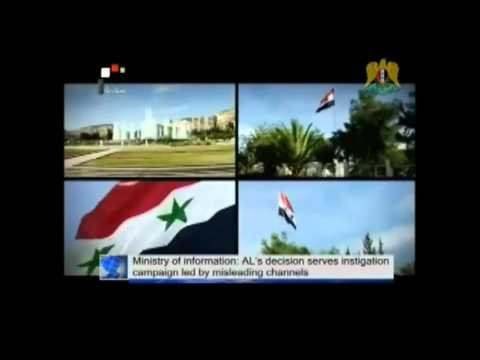 USA and their Gulf Arab Puppet Monarchies want to CENSOR Pro-Government Syrian Channels.