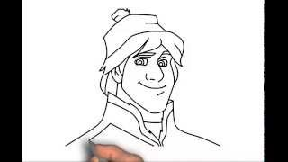 How to draw Kristoff from Frozen step by step easy drawing tutorial