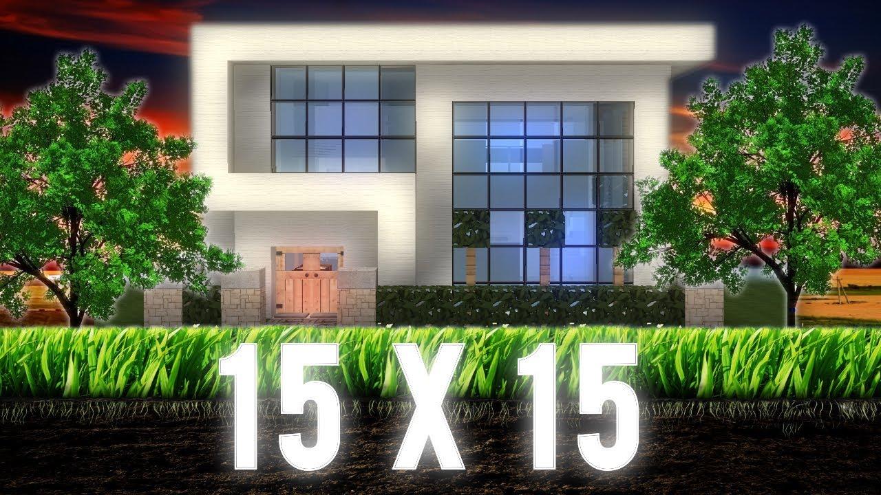 Minecraft 15x15 Modern House HD YouTube