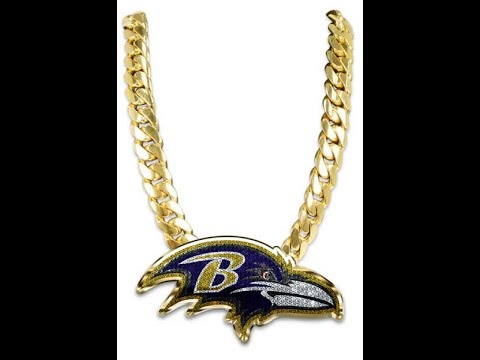 Photoshop Bling Turnover Chain Diamond Football Logo High School NFL Ravens College How to Tutorial