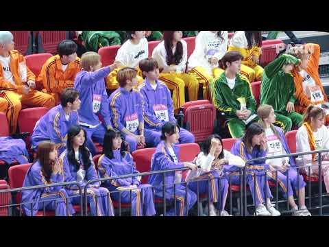 190107 트와이스(TWICE) 아육대(ISAC) - 남자계주 결승 경기 응원하는 TWICE + stray kids