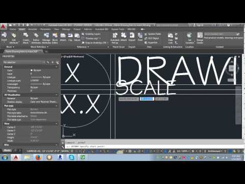 AutoCAD Demo - Using attributes in a block and creating an annotative block