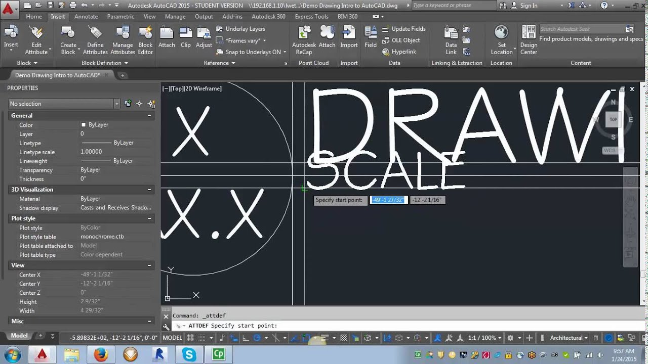 how to create a block in autocad