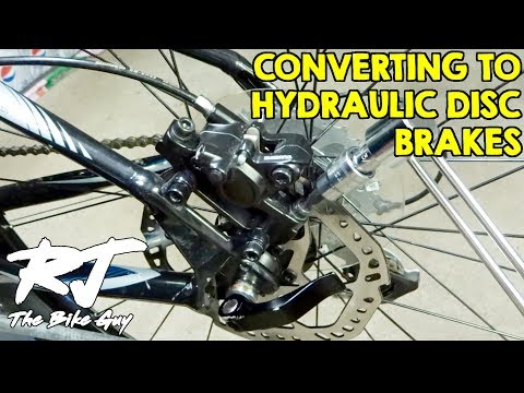 How To Convert To Hydraulic Disc Brakes From Mechanical Disc Brakes On Mountain Bike