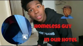 Stayed At The Most Dangerous Hotel In LA w/ My Sister!! *FOUND A HOMLESS GUY IN THE BATHROOM*