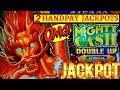 2 HANDPAY JACKPOTS On High Limit MIGHY CASH Slot Machine W ...