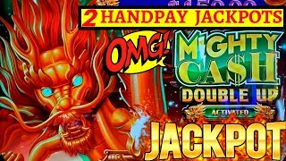 2 HANDPAY JACKPOTS On High Limit MIGHY CASH Slot Machine W/MAX BET - FANTASTIC RUN I HAVE EVER SEEN
