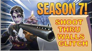 FORTNITE SEASON 7 GLITCH SHOOT THRU WALLS