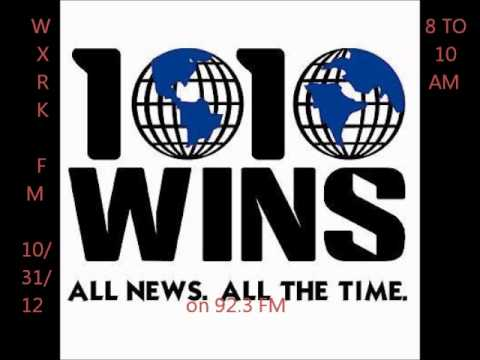 """1010 WINS Sandy Coverage on WXRK """"92.3 Now"""" 10/31/12"""
