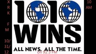"1010 WINS Sandy Coverage on WXRK ""92.3 Now"" 10/31/12"