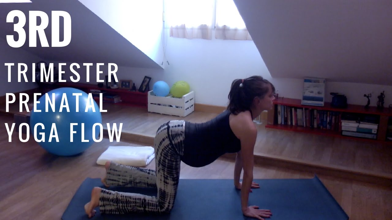 Relaxing Yoga For Late Pregnancy 3rd Trimester Prenatal Flow Youtube