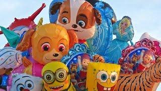 Ketemu Paman Penjual Mainan keliling - Beli Mainan Anak Balon udara karakter