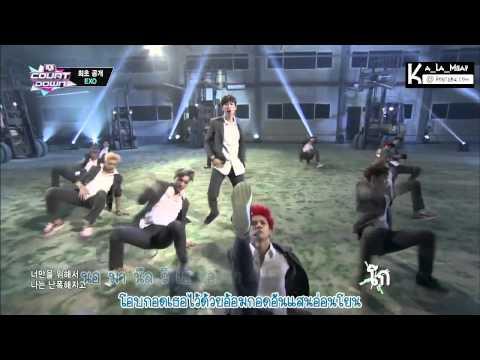 [Thaisub & Karaoke]  EXO Growl  (으르렁)  @ Mcountdown 20130801