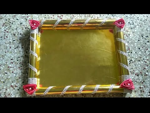 Decorative Tray Makingwedding Tray Decorationss Krafts17 Youtube
