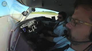 Cockpit Takeoff! Nolinor Aviation Learjet 45 fires down the Mirabel Runway! [AirClips]