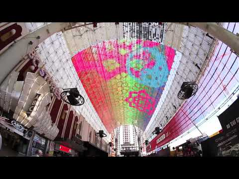 Fremont Street Experience Tests First Section of Viva Vision Screen Upgrade