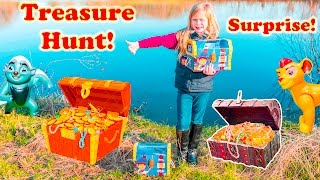 ASSISTANT SURPRISE TREASURE Search Disney Lion Guard and Paw Patrol Treasure Hunt Surprise Video