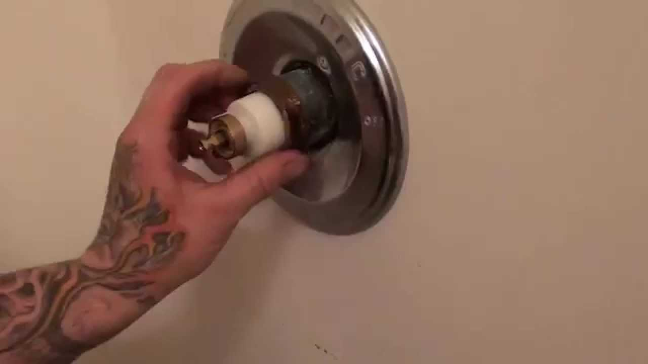 how to fix a leaking delta monitor tub shower faucet tutorial  YouTube