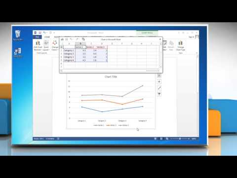 How to make a line graph in microsoft word 2020
