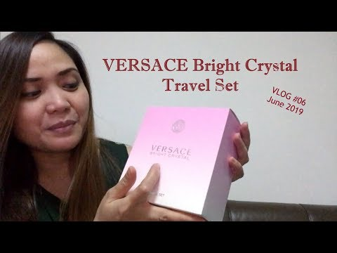 VLOG #06 - VERSACE Bright Crystal Travel Set Unboxing | Mother's Day Gift 2019