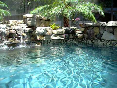 swimming pool waterfall