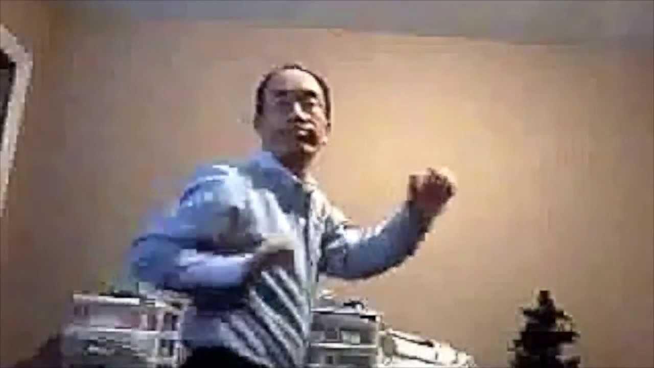 Asian man dancing