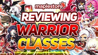 MapleStory - Reviewing Every Warrior Class in GMS (2019)