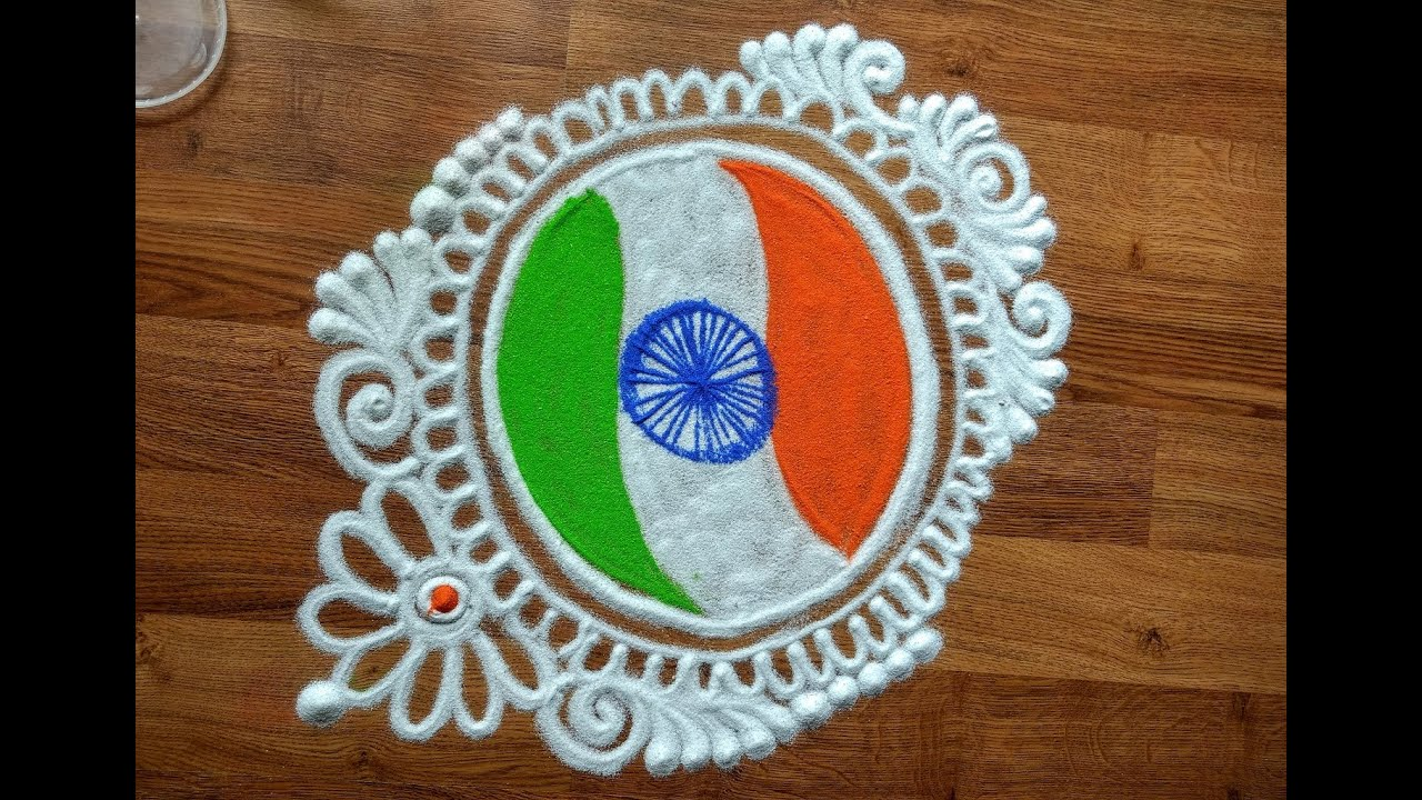 Republic day special rangoli designs with colours indian for Design republic