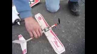 Guillow's Rubber Band Plane Converted To Rc