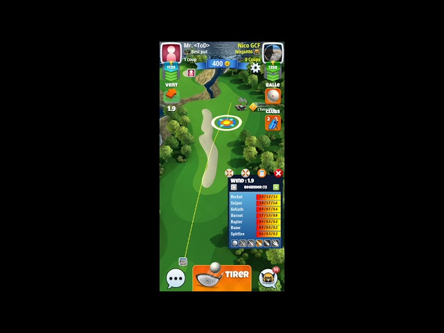 Clubs Guide for Golf Clash: how to use mini-view widget ?