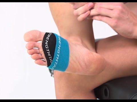 STRENGTHTAPE®   Kinesiology Tape   Ball of Foot - YouTube