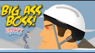 DAAAAMN!! BIG ASS BOSSS! [HAPPY WHEELS] [MADNESS!]