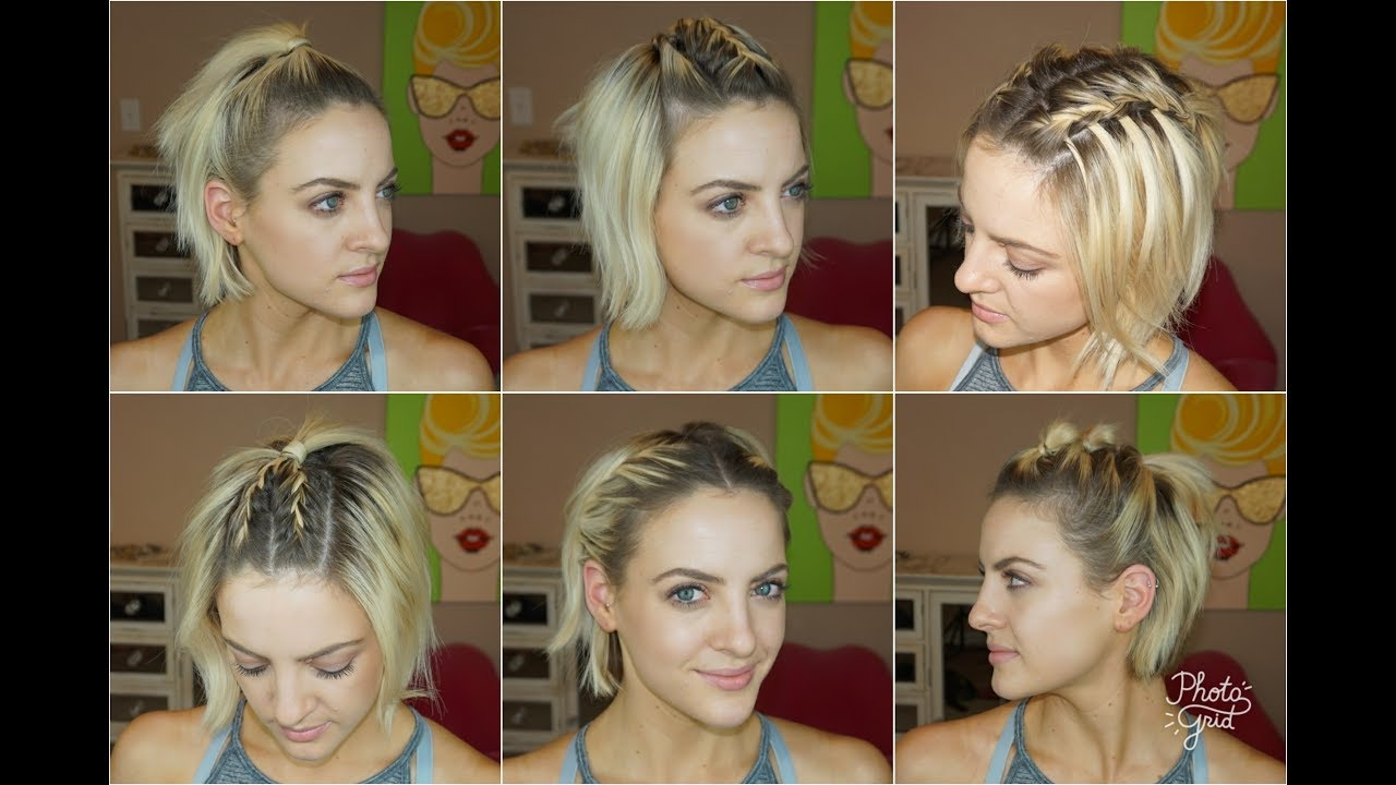 6 short hairstyles for the gym