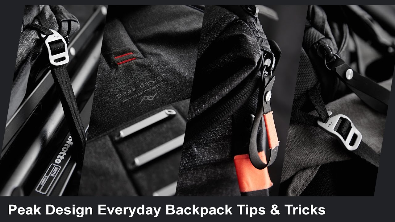 Peak Design Everyday Backpack Tips And Tricks Youtube
