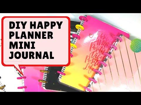 DIY Happy Planner Mini Journal | No laminator needed| #missmakermarchchallenge