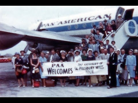 1959 Pan Am Boeing 377 Stratocruiser in Bermuda ~ Interior & Landing at NYC