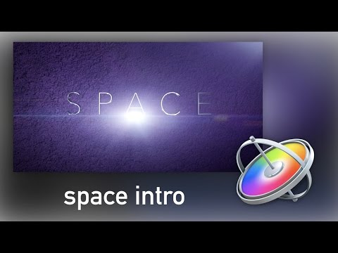 How to Create a Space Intro in Motion 5!