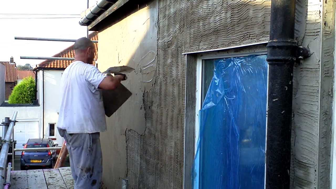 Plastering Sand And Cement Rendering Youtube