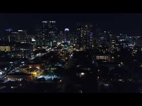 Fort Lauderdale Skyline - Drone Flight.