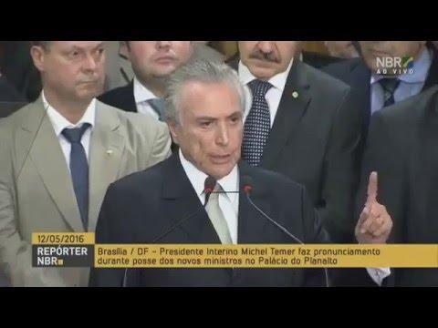 Pronunciamento do Presidente Michel Temer completo-Michel Temer diz: o lema é 'Ordem e Progresso