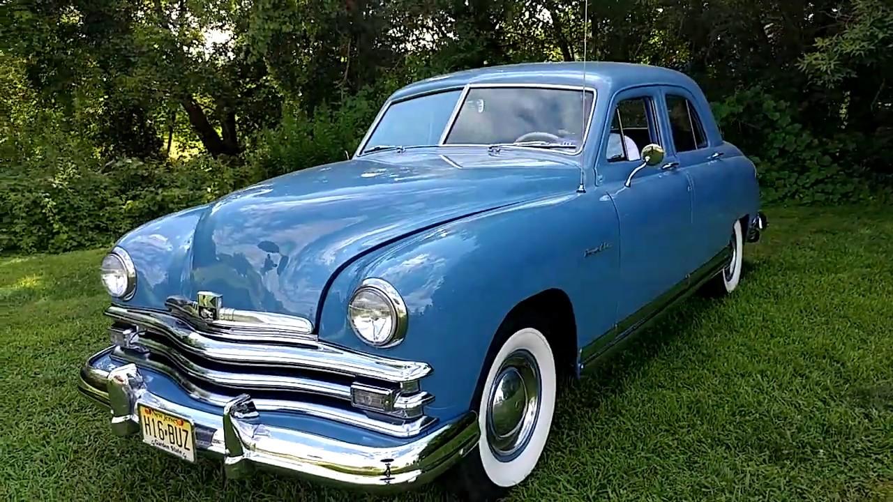 Who Invented The Automobile >> 1949 HORIZON BLUE KAISER FRAZER 4 DOOR SEDAN - YouTube