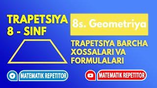 5. Trapetsiya va uning xossalari (Geometriya 8 sinf)
