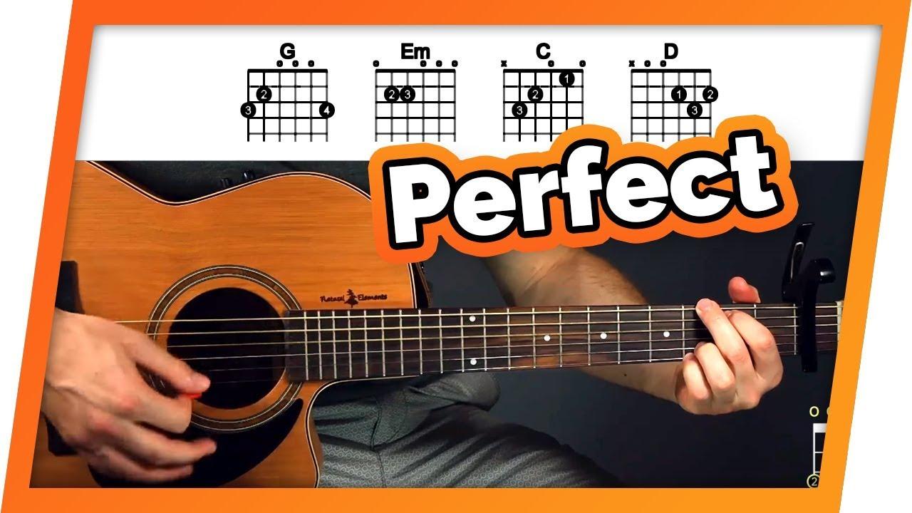 Perfect Ed Sheeran Easy Chords Guitar Tutorial Lesson For
