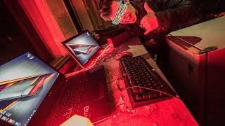 £3000 GAMING SETUP IN AN ABANDONED BUILDING!! *SCARY*