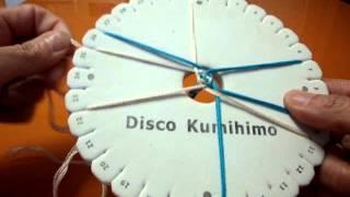 KUMIHIMO XXVIII:CORDON 8 HILOS, TEJIDO CESTO